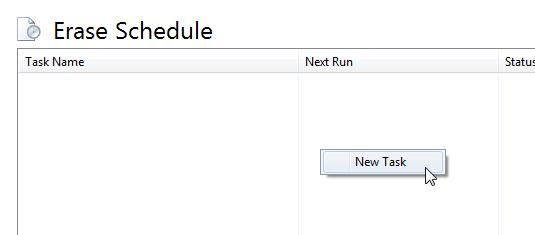 Tabla Erase Schedule