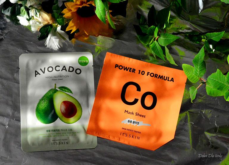 Koreańskie maski w płachcie It's Skin - Avocado oraz Power 10 Formula Co