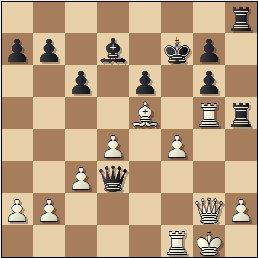 Partida de ajedrez Velat vs. Galindo, posición después de 29…Dd3