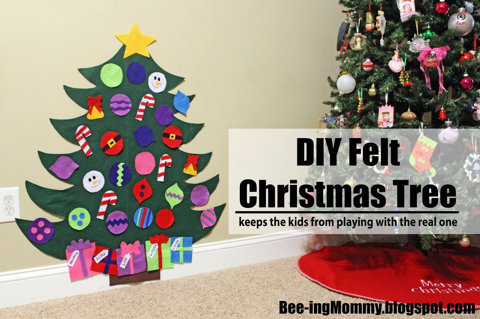 Felt Christmas Tree Pattern.Felt Christmas Tree Tutorial