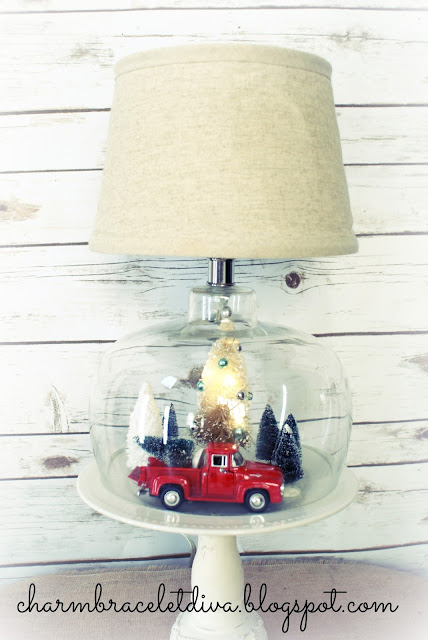 DIY bottle lamp waterless snow globe Christmas