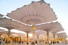 World's largest umbrella in Grand Mosque Makkah