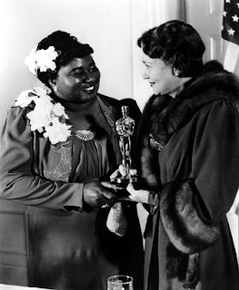 Hattie McDaniel (1895-1952) Receives Oscar From Fay Bainter (1939)