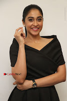Actress Regina Candra Pos in Beautiful Black Short Dress at Saravanan Irukka Bayamaen Tamil Movie Press Meet  0021.jpg