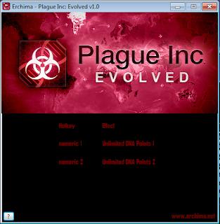 Trainer Plague Inc: Evolved Hack v1.0 Unlimited DNA Points