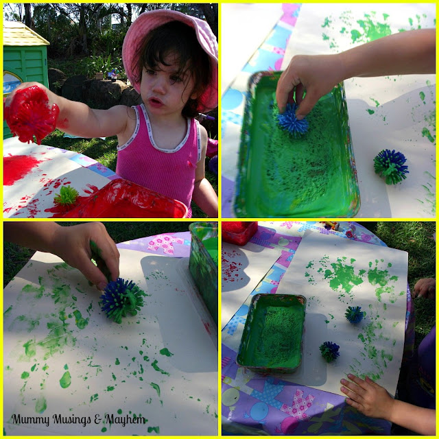 Find out how to make your own paint stamping sponge pads and use a few simple tools to help toddlers create their own Christmas prints and wrapping paper.