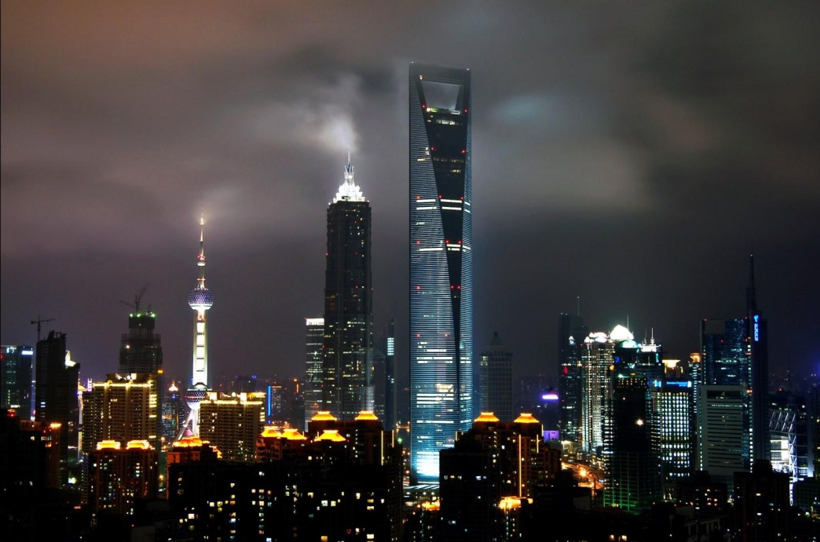 Ashley Wallpaper: Shanghai Skyline All Type Hd Wallpapers