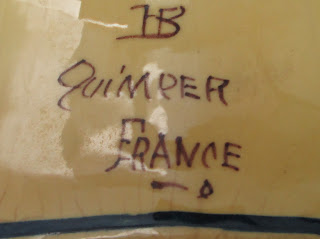 H B Quimper Pottery Lamp Bottom Mark