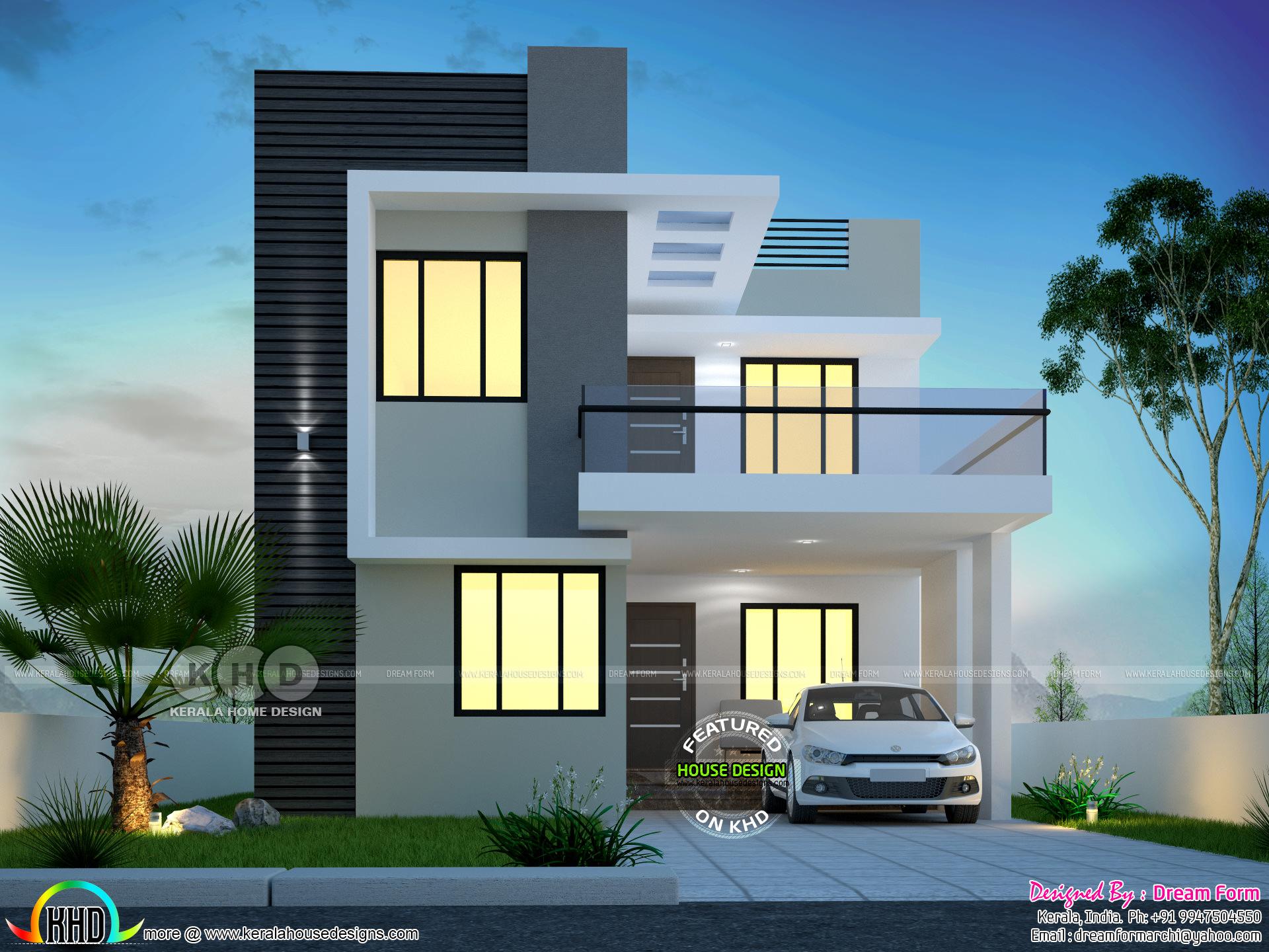 3 Bedroom 1650 Sq Ft Modern Home Design Kerala Home Design