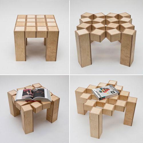 Mesas para ahorrar espacio de madera