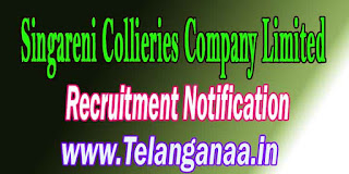SCCL Singareni Collieries Company Limited Recruitment Notification 2016 Apply
