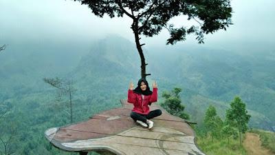 Pemandangan di Puncak Budug Asu di Lawang Malang Jawatimur