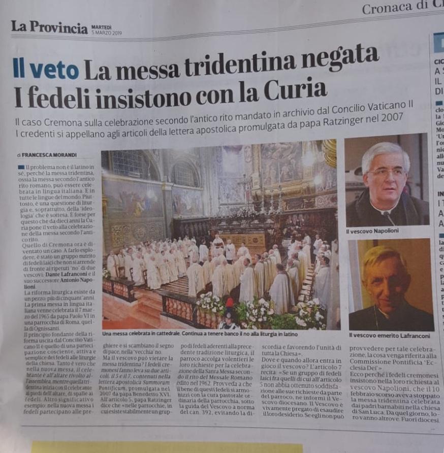 1e9af7ad212a MiL - Messainlatino.it  Divieto a Cremona alla Messa in latino  il ...