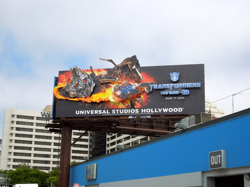 Transformers Ride 3D Megatron billboard installation