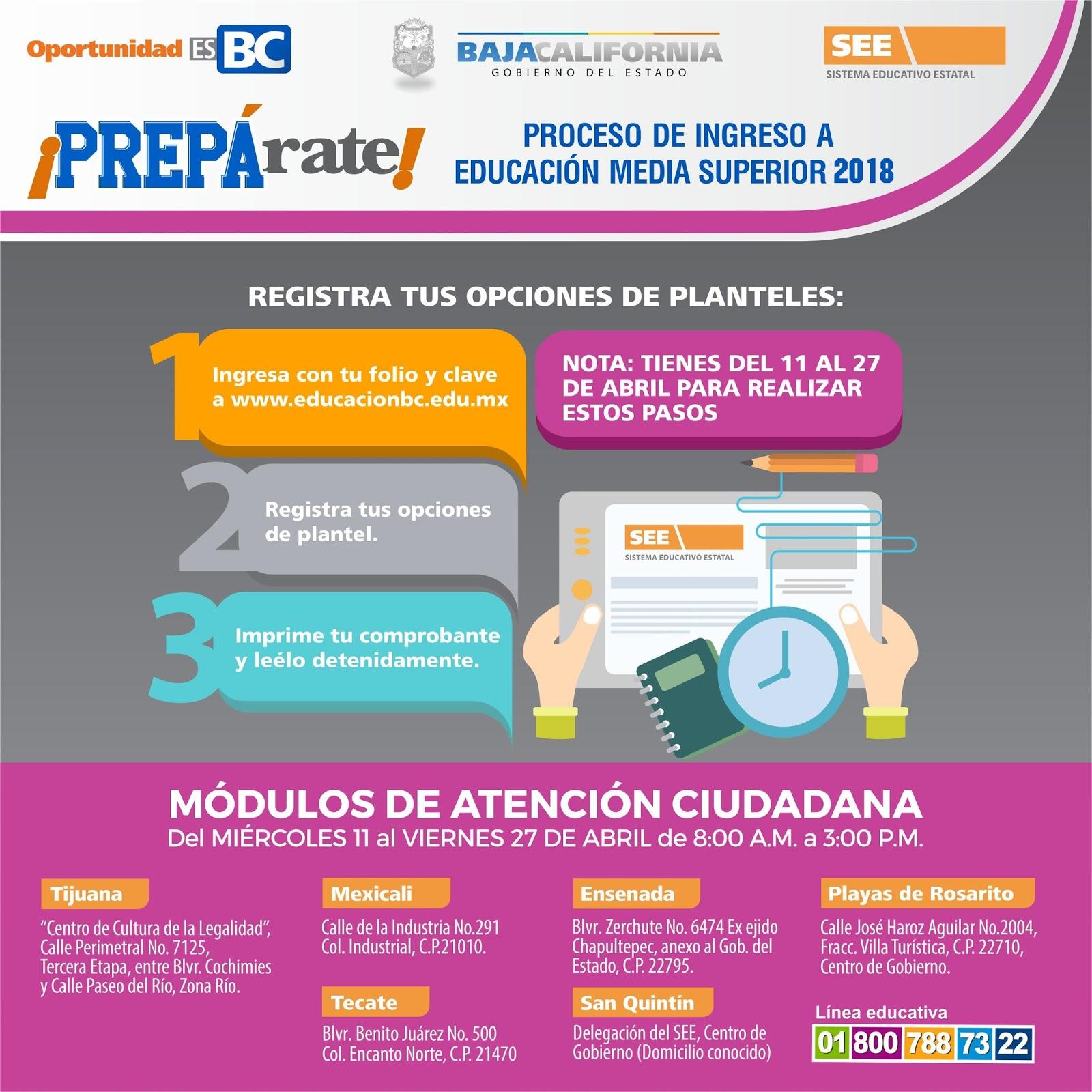 Miercoles  De Abril Inicia Solicitud De Fichas Por Internet Para Ingresar A Preparatoria En Bc Ciclo Escolar