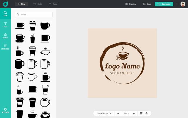 DesignEvo Review | Editor Screenshot