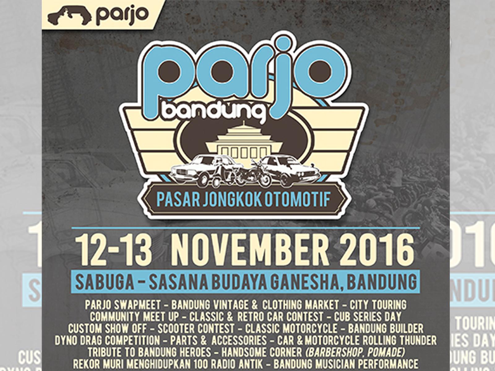 Parjo Pasar Jongkok Otomotif 2016 Bandung