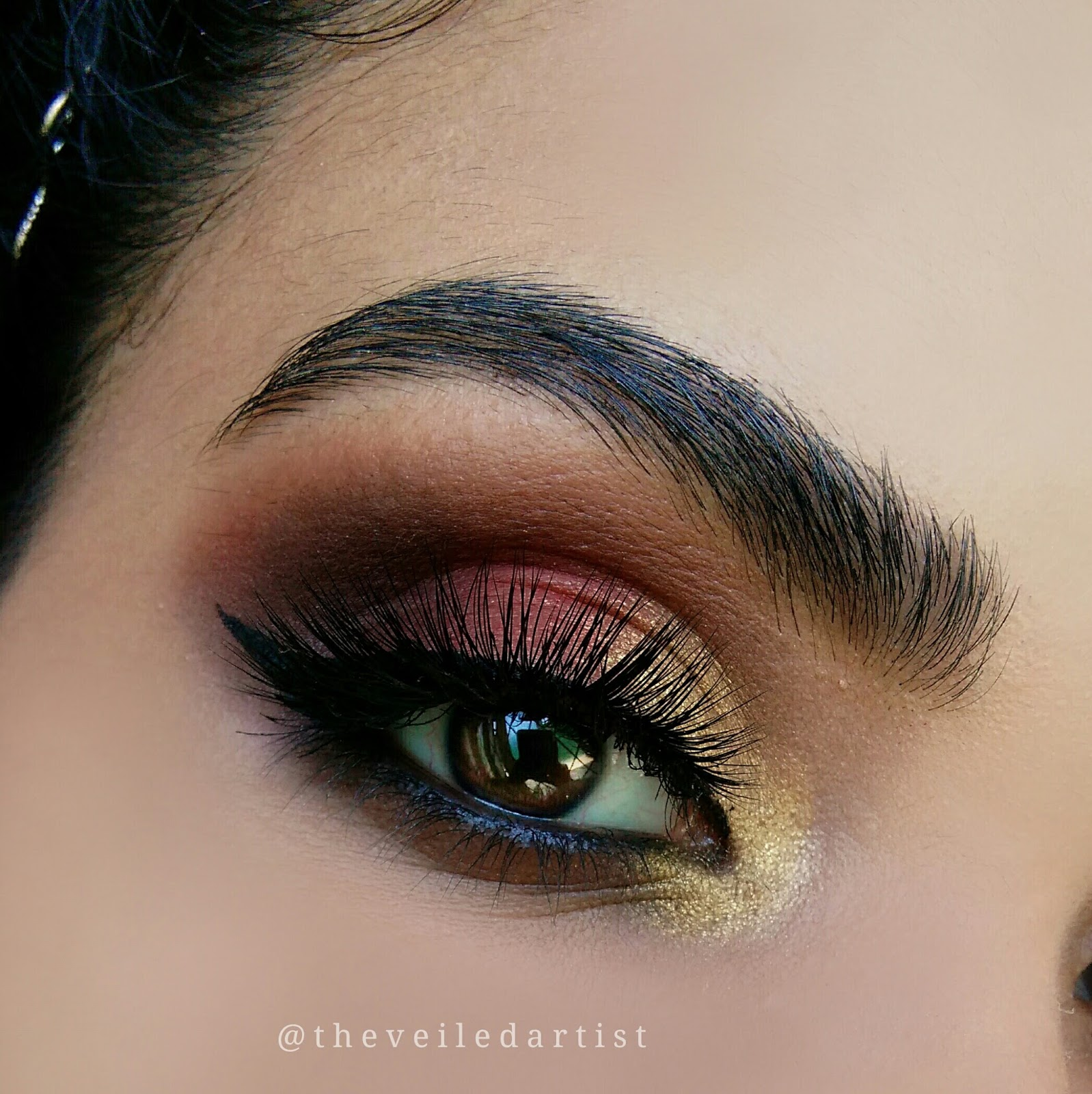 Gold And Red Dramatic Smokey Eyes Tutorial For Beginners The