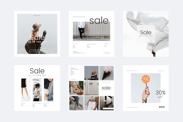 Discount templates Free Vector