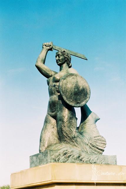 syrenka, pomnik, warszawa