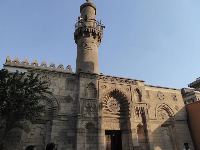 facciata della moschea di Al-Aqmar al Cairo