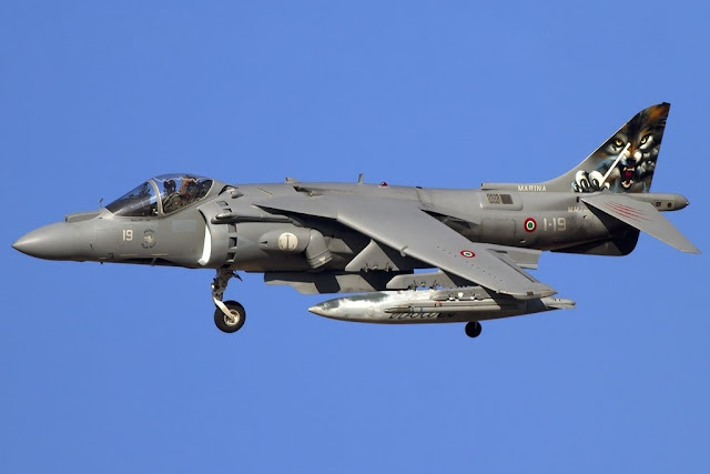 Italian Navy Harrier accident mishap