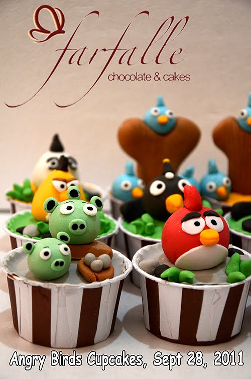Farfalle Chocolate Amp Cakes Angry Birds Cupcakes