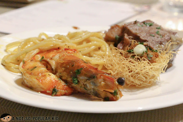 Prawn pasta of Makati Diamond Residences