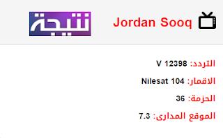 تردد قناة سوق الاردن Jordan Sooq الجديد 2018 على النايل سات
