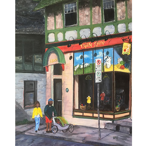 Window shopping at the Hydrostone- Original Painting
