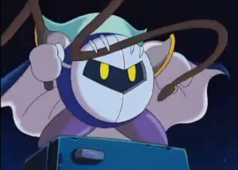 Meta Knight whip Kirby anime