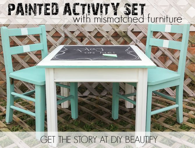 set pieces a to activity an for fabulous with kids table it chalkboard see diy at pin create i did how children using mismatched s title furniture