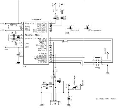 Embedded Engineering USB 8051 89 Series AVR Microcontroller Programmer