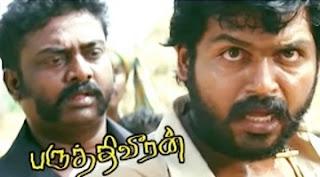 Paruthiveeran Movie Scenes   Karthi meets Ponvannan to talk about Priyamani   Karthi warns Priyamani