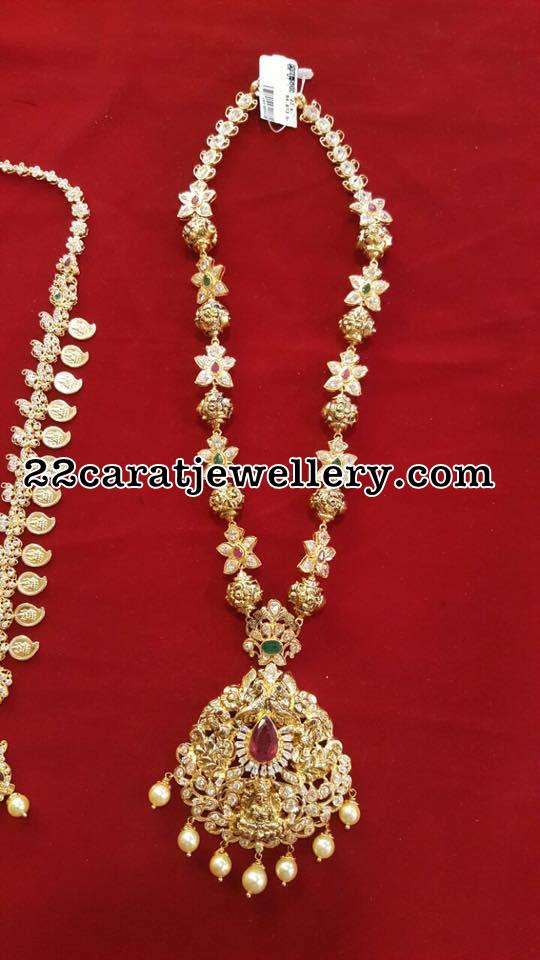 Simple Necklaces by Bhavani Jewellers