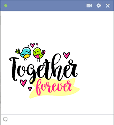 Together Forever Love Sticker