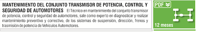 MANTENIMIENTO DEL CONJUNTO TRANSMISOR DE POTENCIA CONTROL Y  SEGURIDAD DE AUTOMOTORES 821605