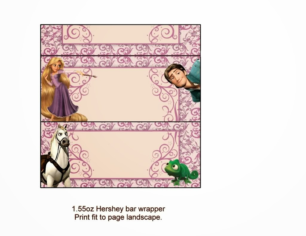 tangled  rapunzel  free printable chocolate labels