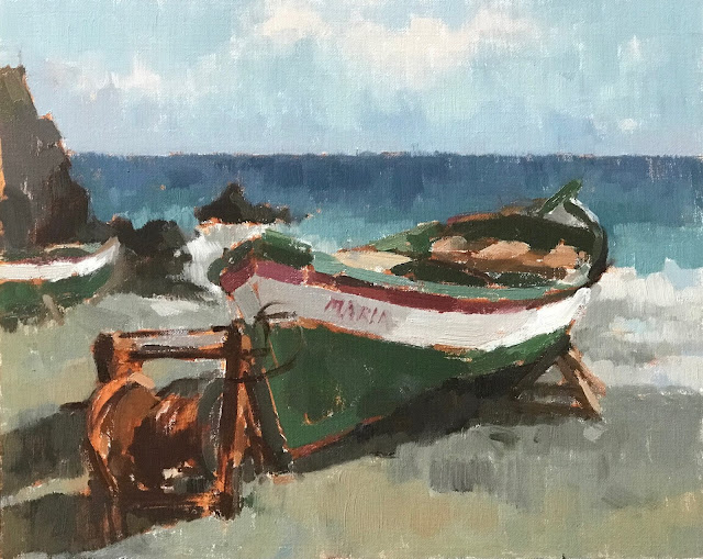 #434 'Old Fishing Boat' 24x30cm