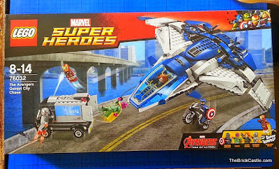 The LEGO Avengers Quinjet City Chase set 76032 pack shot