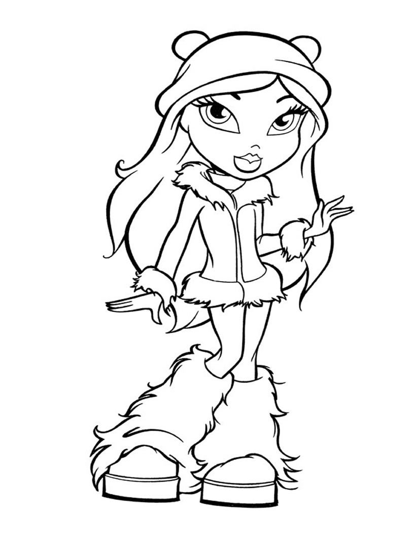 coloring pages bratz dolls - photo#24