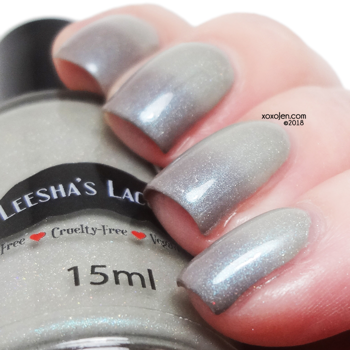 xoxoJen's swatch of Leesha's Lacquer Labradorite