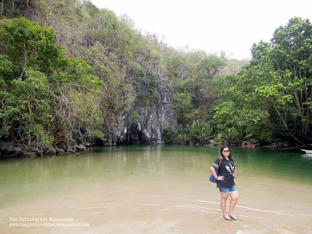 Enjoying the stunning scenery around us as we wait for out turn to go into the Puerto Princesa Underground River