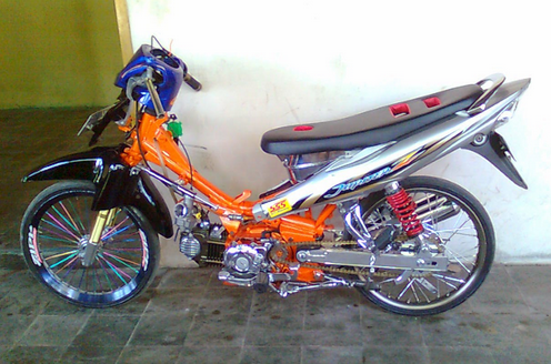 Gambar Modifikasi Motor Jupiter Z Drag Bike