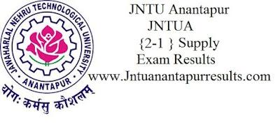 Jntua  2-1 Supply Results