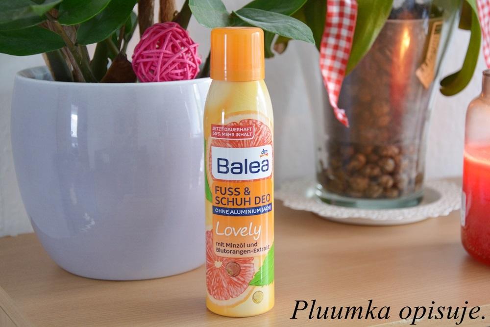 Balea Lovely, Fuss und Schuh Deo - dezodorant do stóp i butów.