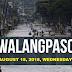 #WalangPasok: Class Suspension on August 15, 2018 - Wednesday