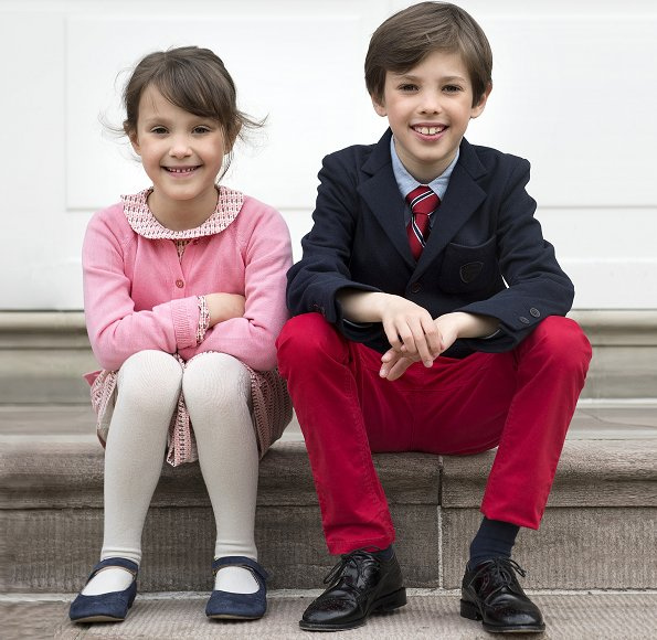 Danish Royal Court published new photos of Prince Henrik and Princess Athena on the occasion of his 9th birthday. Danish Princess Marie