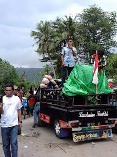 Lambatnya Perbaikan Jalan Provinsi, IMAWI Blokade Jalan