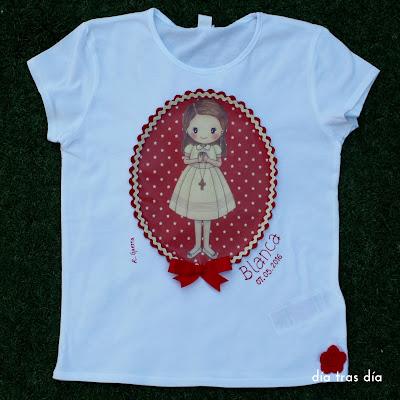 camiseta personalizada primera comunión